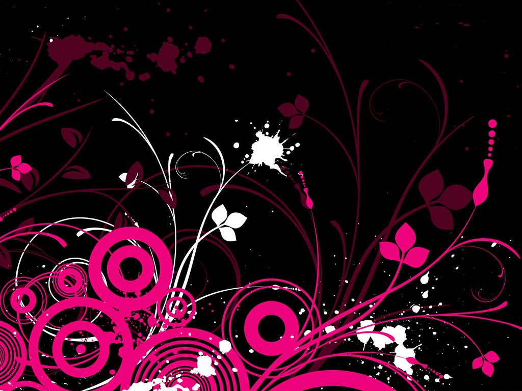 Neon Pink And Black Wallpaper 1024x768