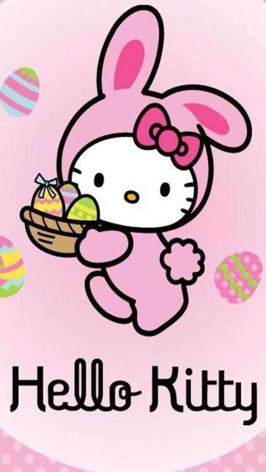 Hello Kitty Easter Wallpaper Easter HelloKitty EasterWallpaper 542x960