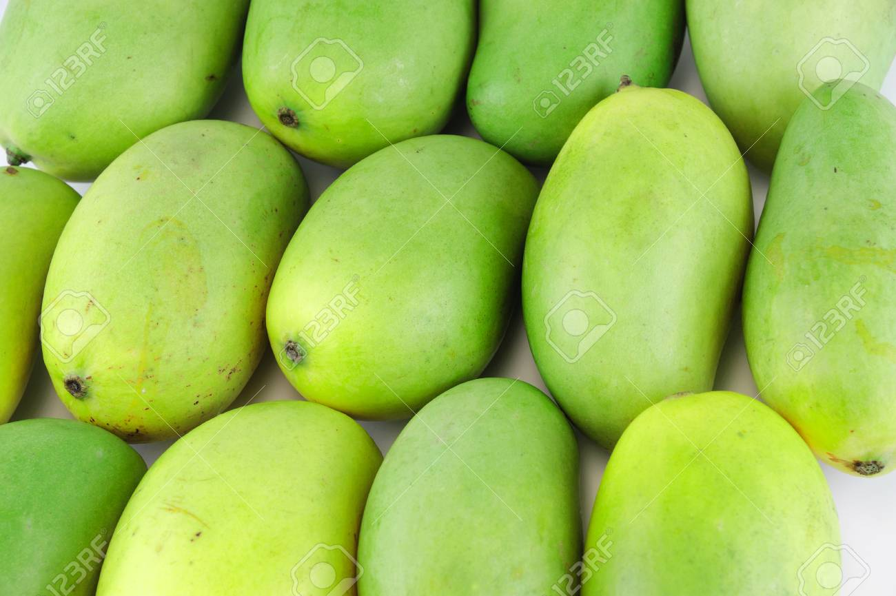 Close Up On Fresh Green Mango Background Stock Photo Picture And 1300x865