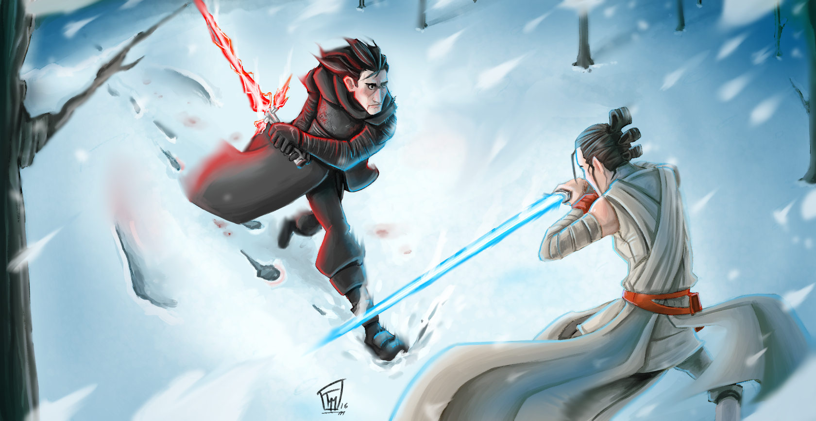 Kylo Ren vs Rey by Kakiusko on Newgrounds 1680x867