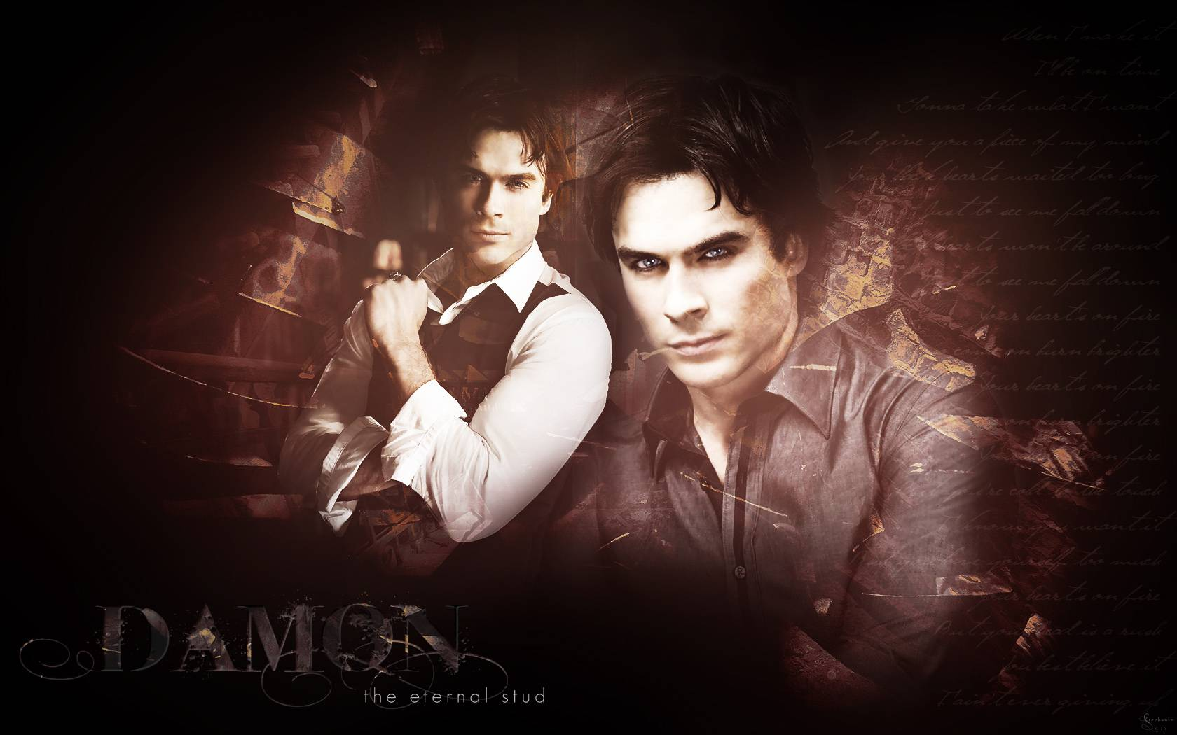 Damon   The Vampire Diaries Wallpaper 1680x1050