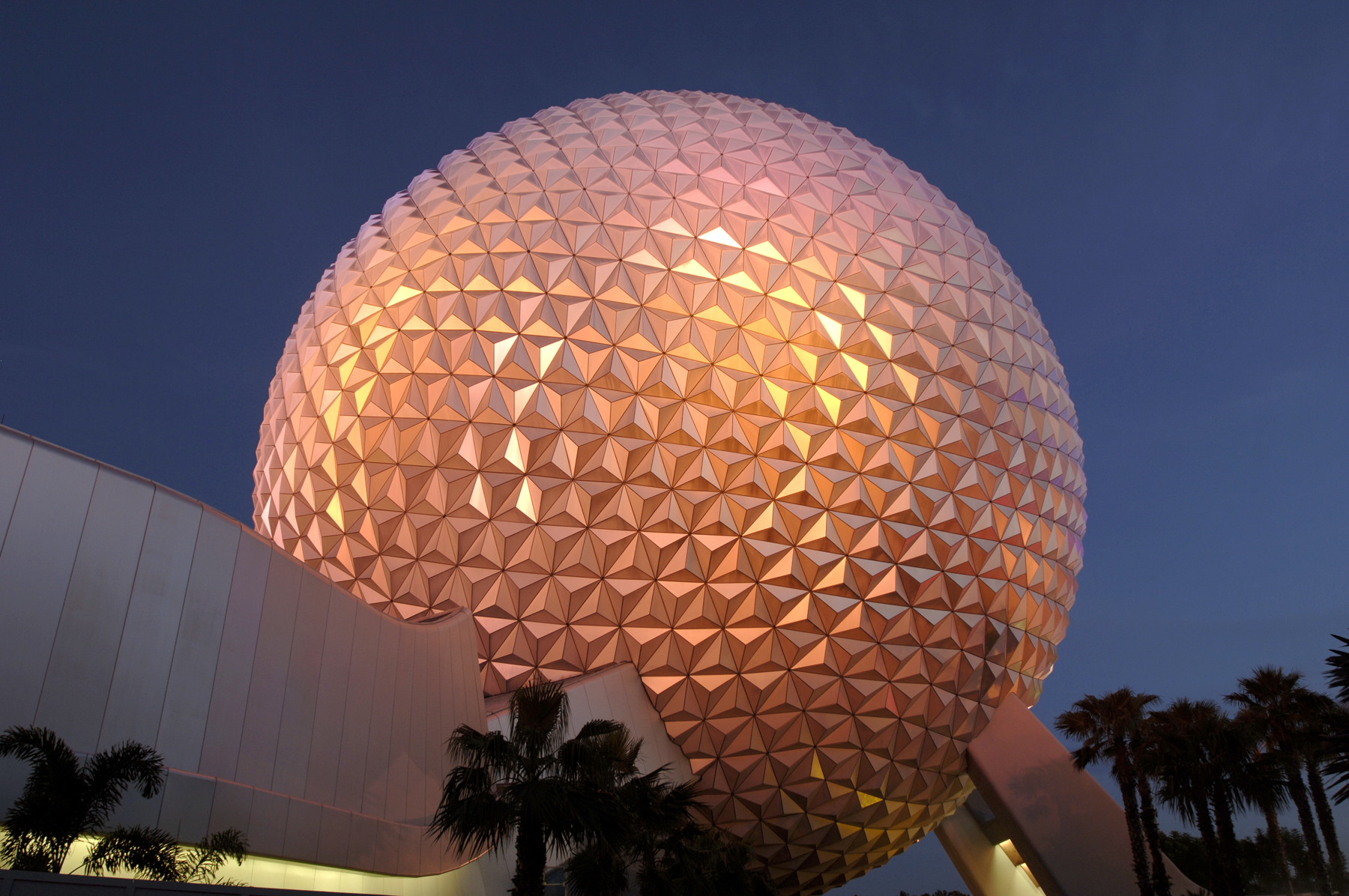 nighttime wallpaper spaceship earth wallpaper set your background 1800x1196
