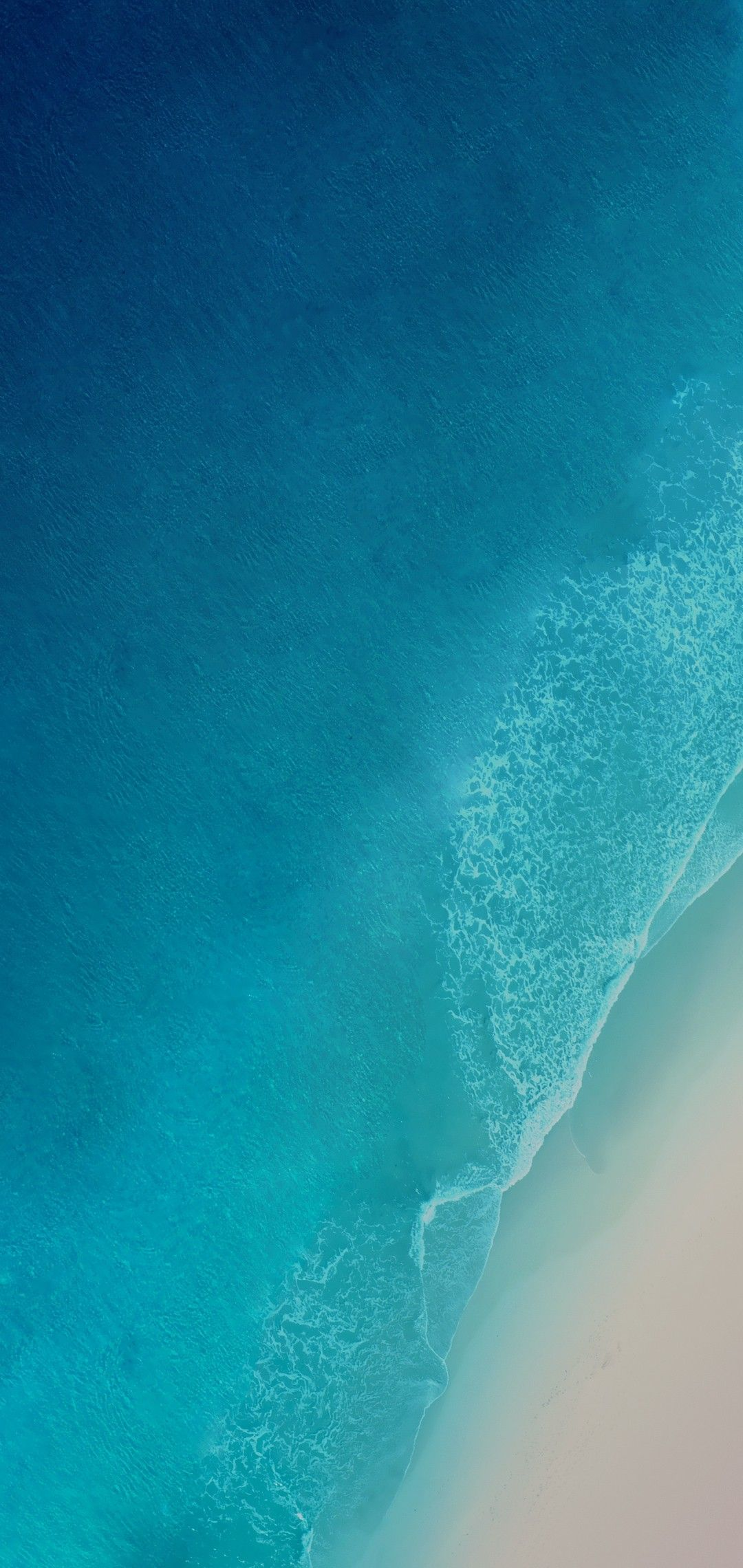 iOS 12 iPhone X Aqua blue Water ocean apple wallpaper 1080x2280