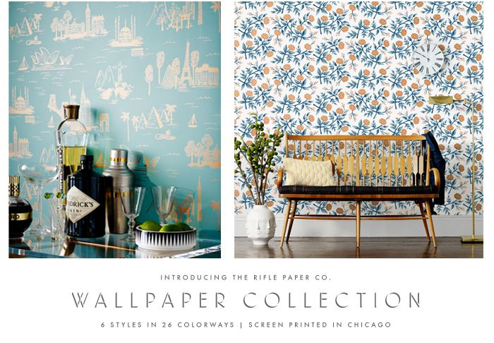 Rifle Paper Co Wallpaper Collection released with Hygge West Screen 700x486