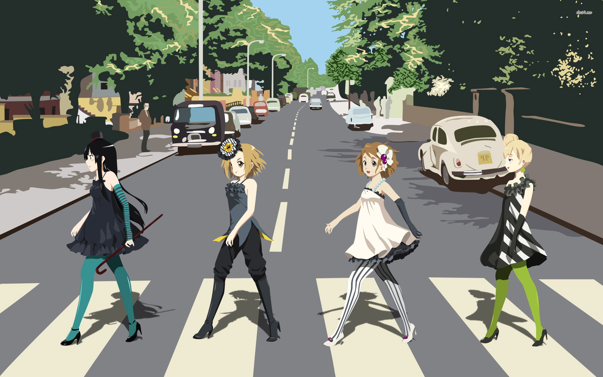 The Simpsons Abbey Road Wallpaper 2560x1600