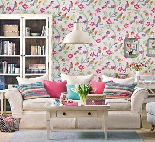 Contoh Gambar Wallpaper Dinding Untuk Ruang Tamu Sempit Rumah Idaman 513x470