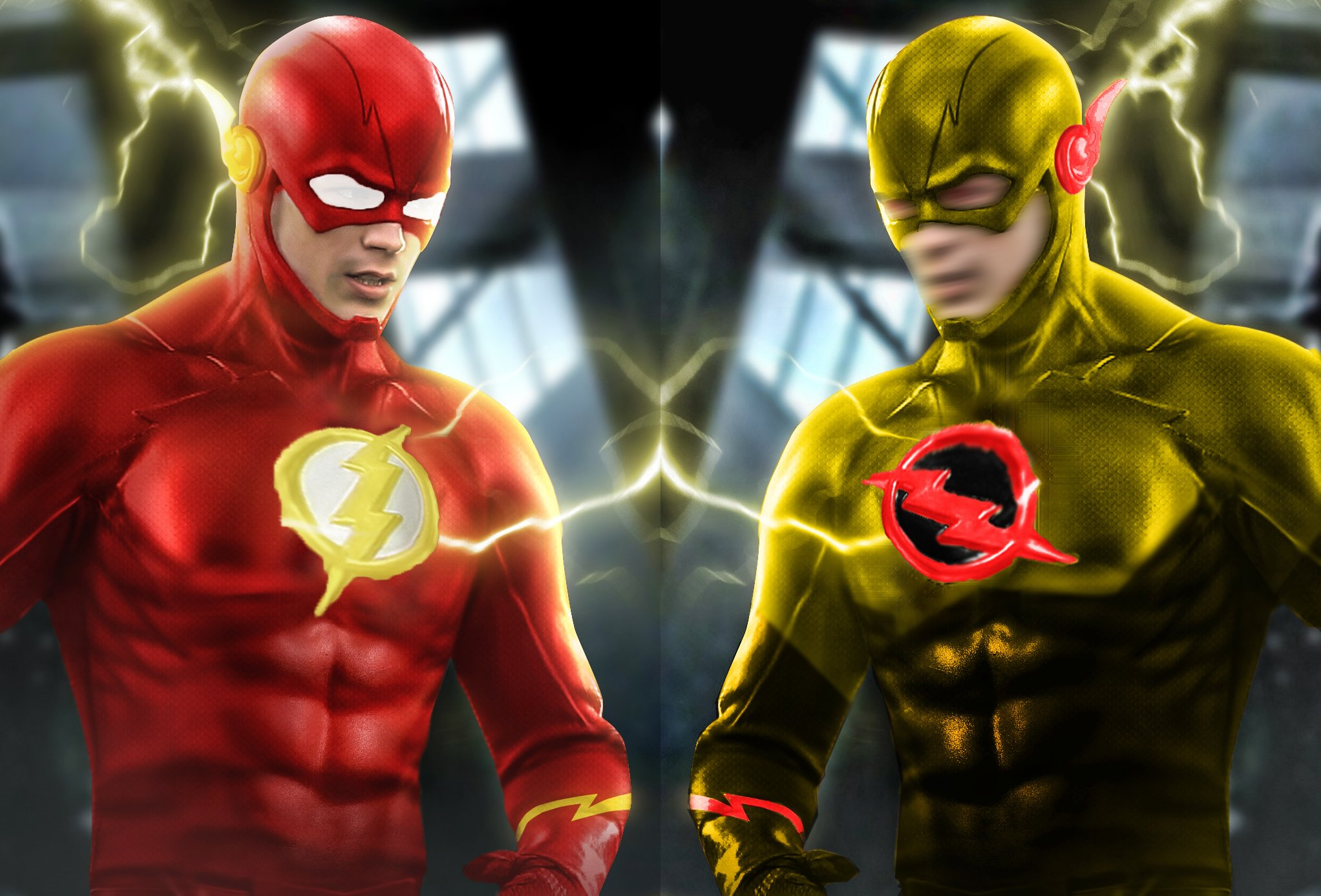 superhero costume changes  flash  reverse flash  by cthebeast123 2044x1387