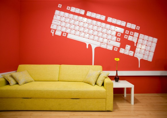 Free Download Wall Decals Decor Office Interiors 582x412 For Your Desktop Mobile Tablet Explore 46 Wallpaper Ideas Pictures Of Designs Decorating