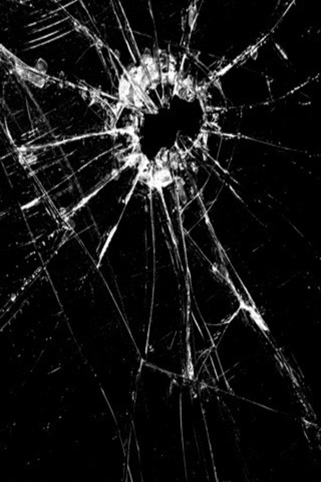 Related Pictures 45 realistic cracked and broken screen wallpapers 640x960