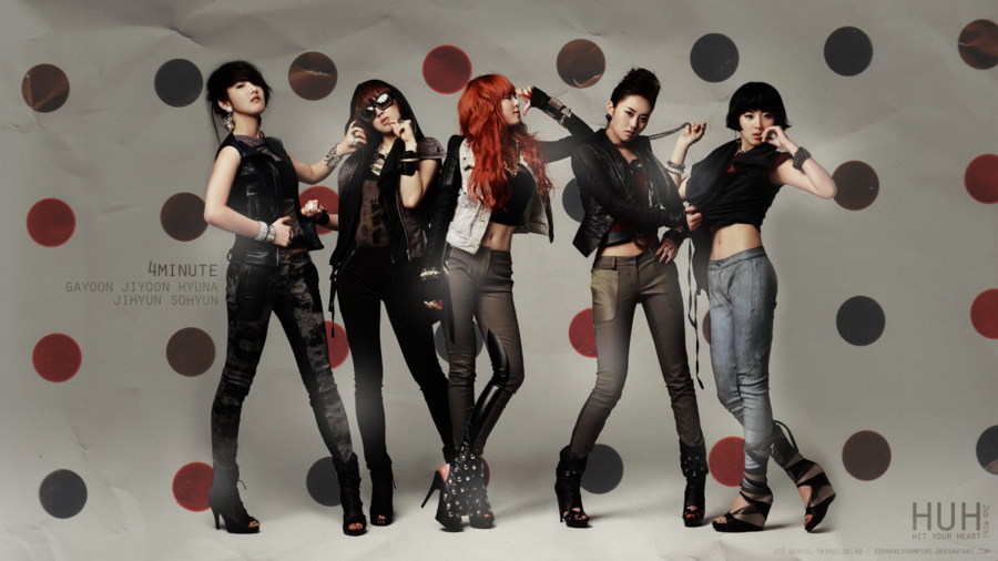 4Minute Wallpaper 2 sizes by xSparklyVampire 900x506
