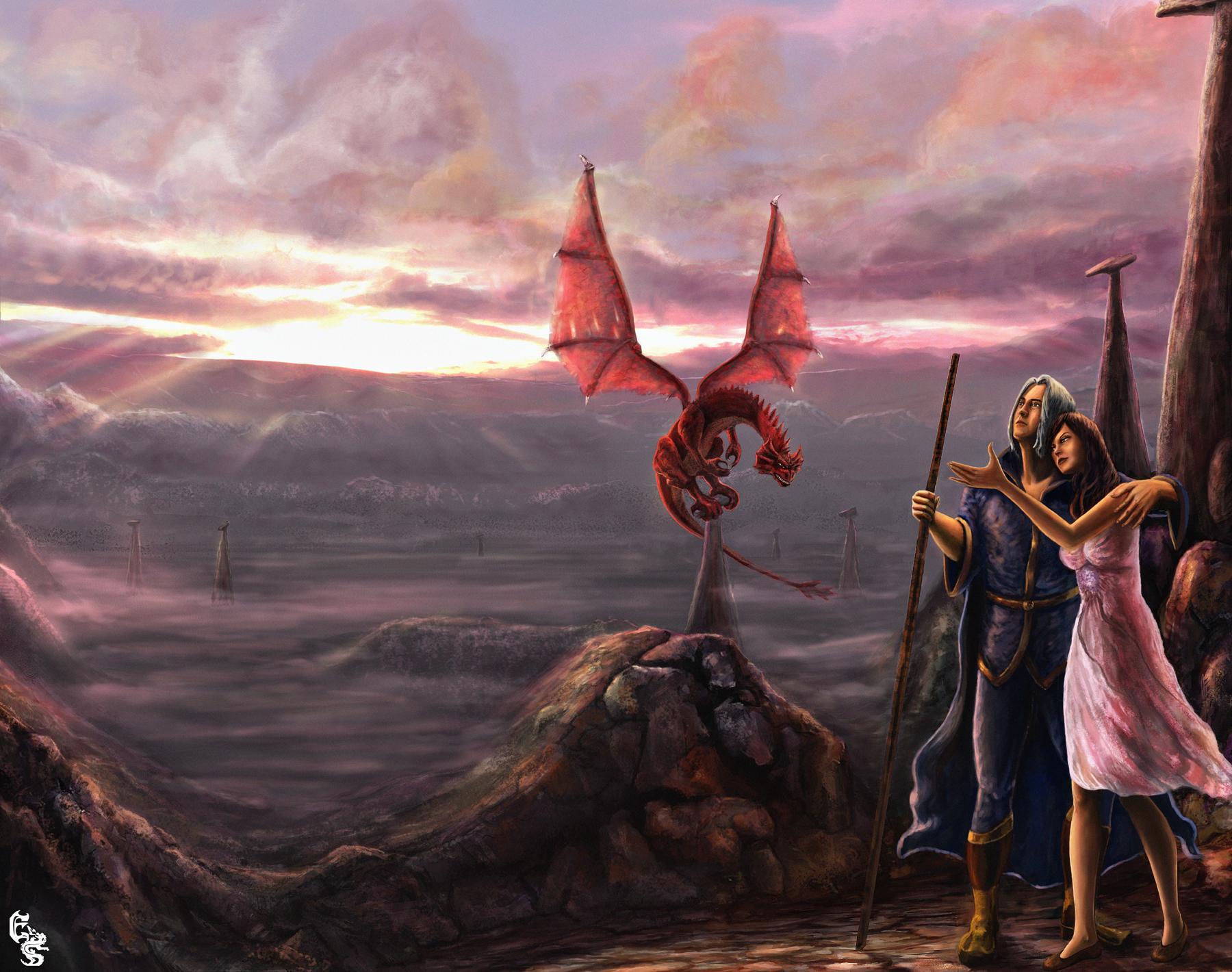 Dragonlance Wallpaper Dragon lance by designes 1800x1420