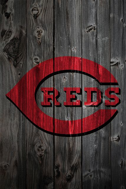 Cincinnati Reds wood themed phone wallpaper Use for your own phone 427x640