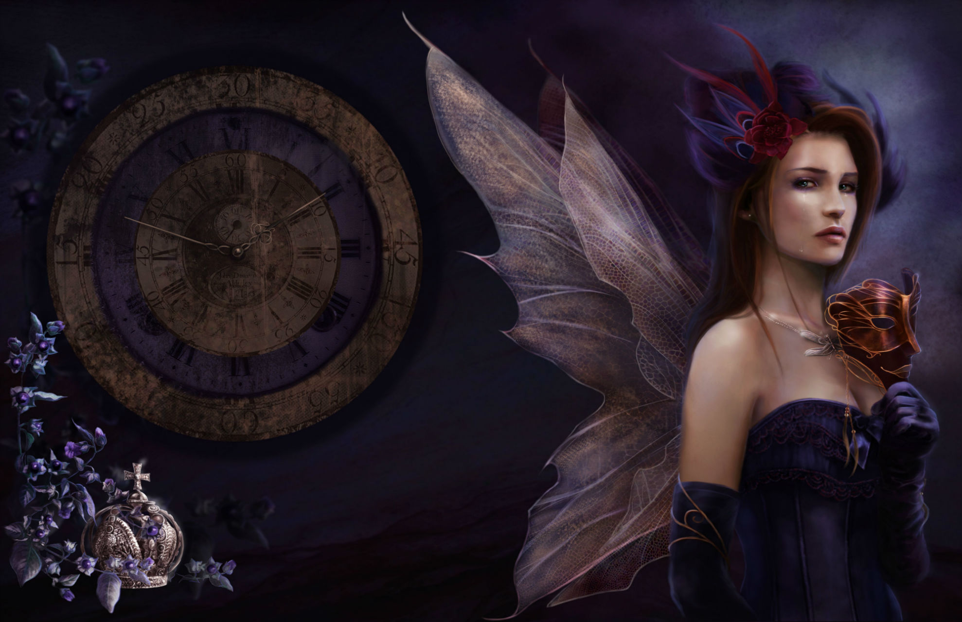 Fantasy gothic fairy time women art wallpaper 1978x1280 29989 1978x1280