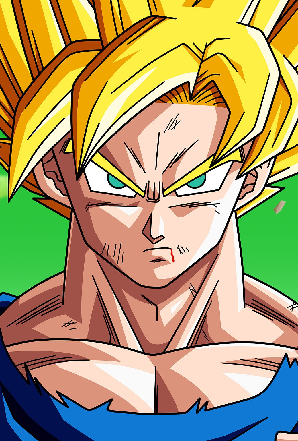 dragon ball goku by bejitsu   parallax HD iPhone iPad wallpaper 1040x1536