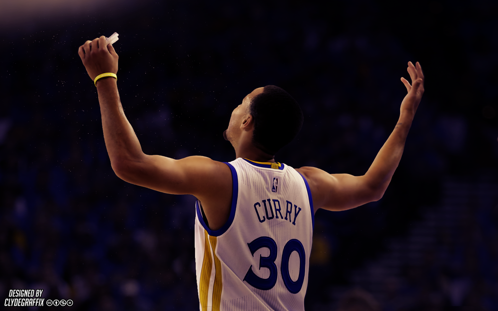 Stephen Curry Hands Up Lighting Wallpaper by ClydeGraffix by 1024x640