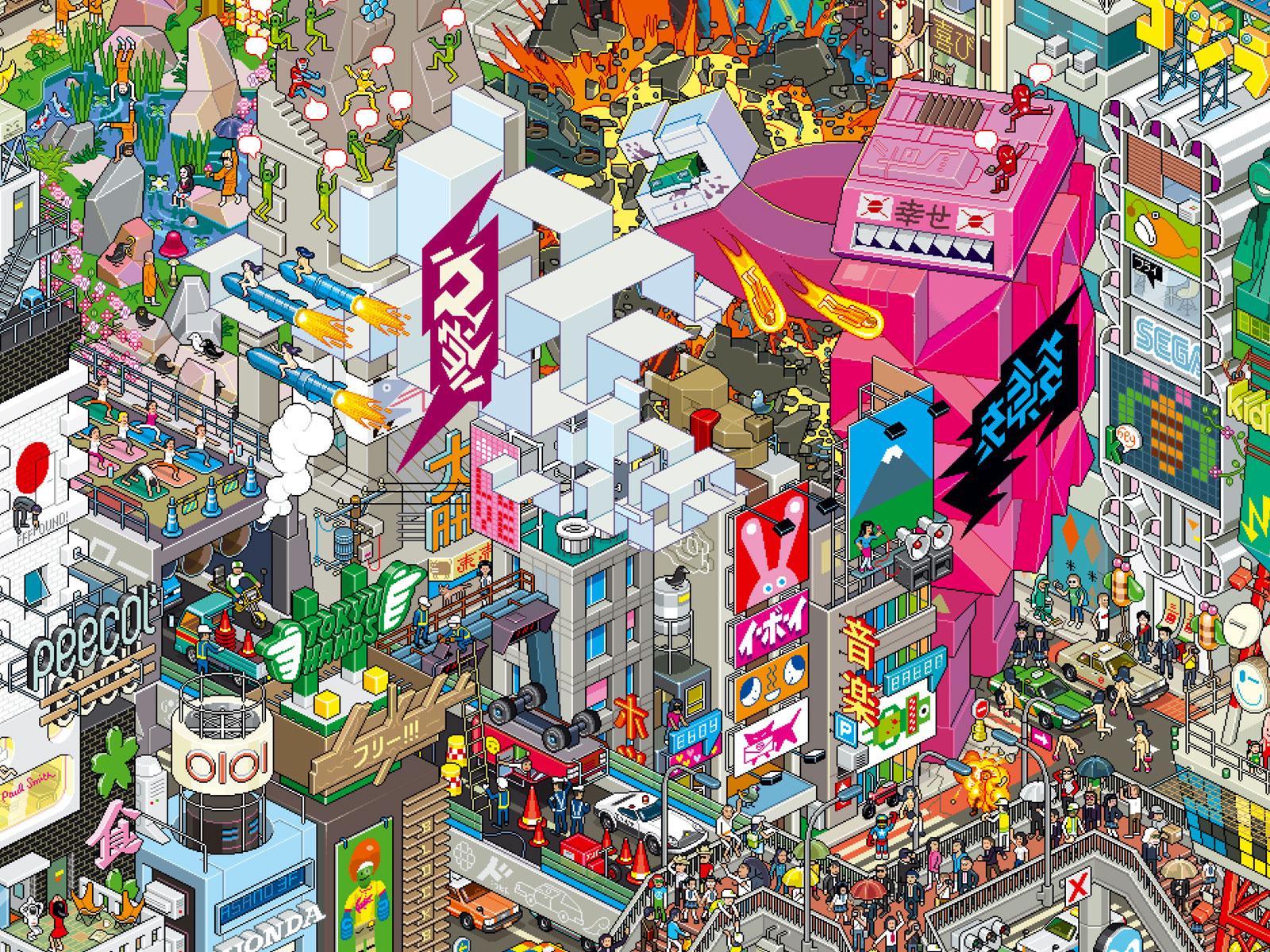 Pixel Tokyo Wallpapers Pixel Tokyo Myspace Backgrounds Pixel Tokyo 1600x1200