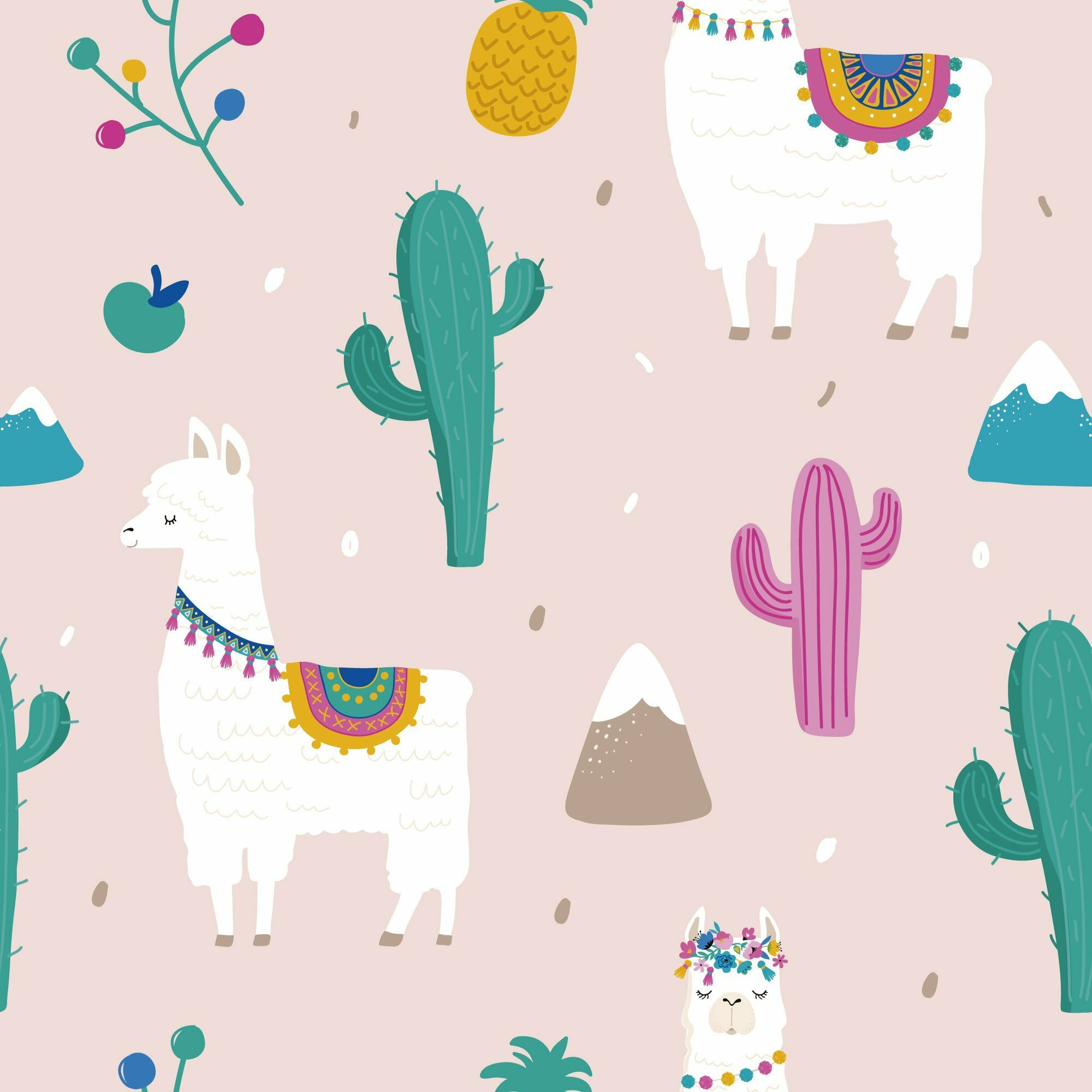 WallsByMe Llama Removable Peel and Stick Wallpaper Roll Wayfair 2000x2000
