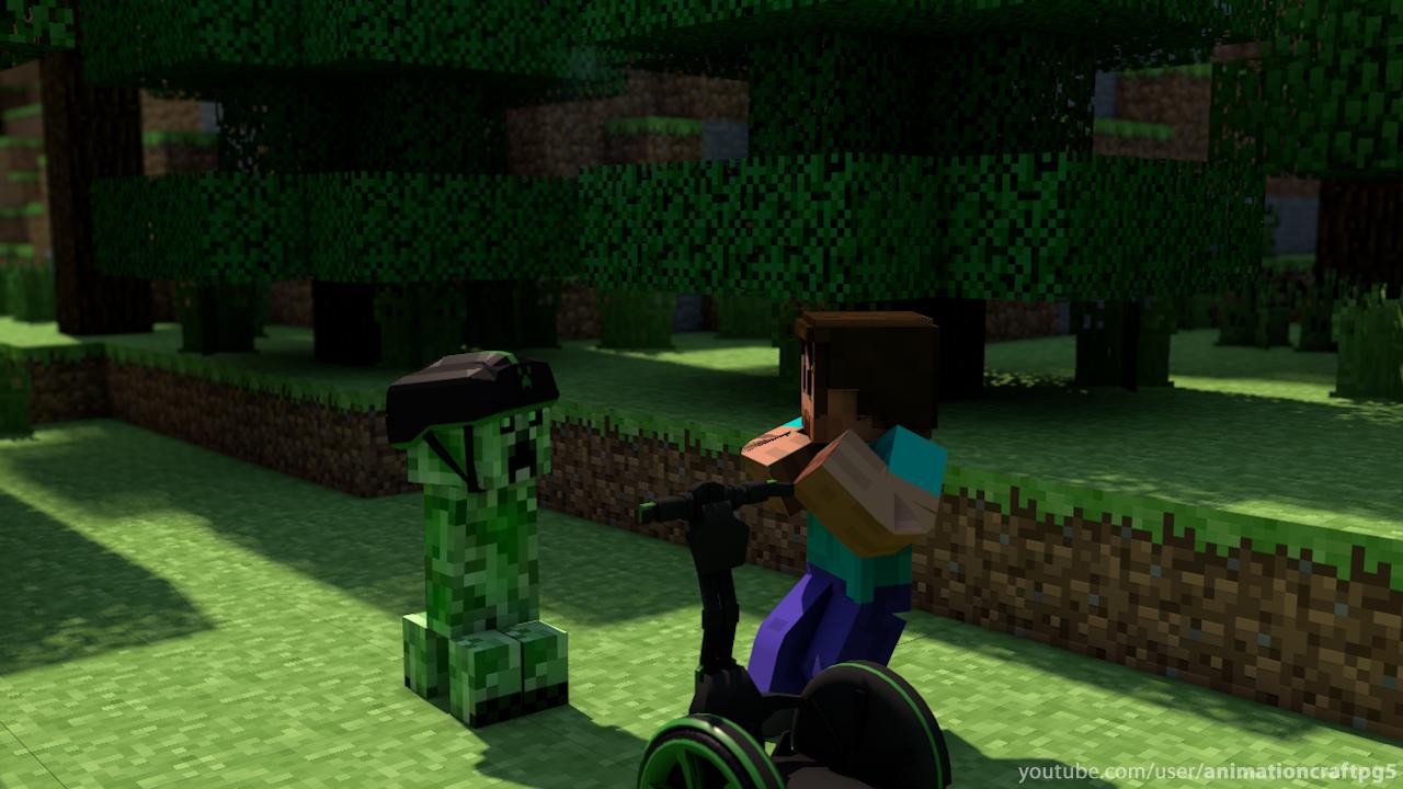 Free Download Minecraft Animation Creeper Minecraft Fonds