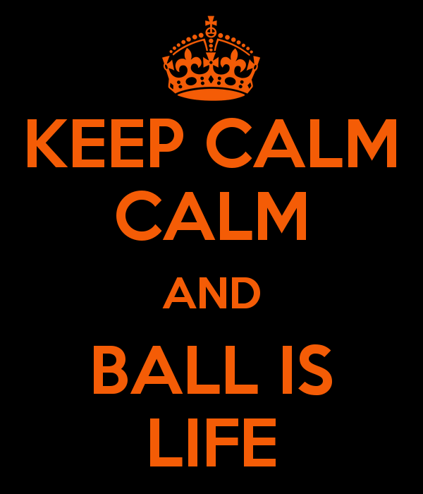 KEEP CALM CALM AND BALL IS LIFE   KEEP CALM AND CARRY ON Image 600x700