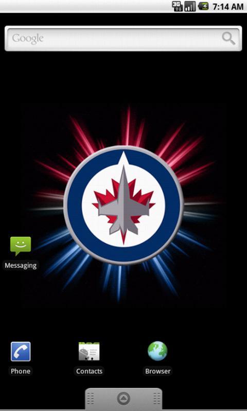 Winnipeg Jets Live Wallpaper   screenshot 480x800
