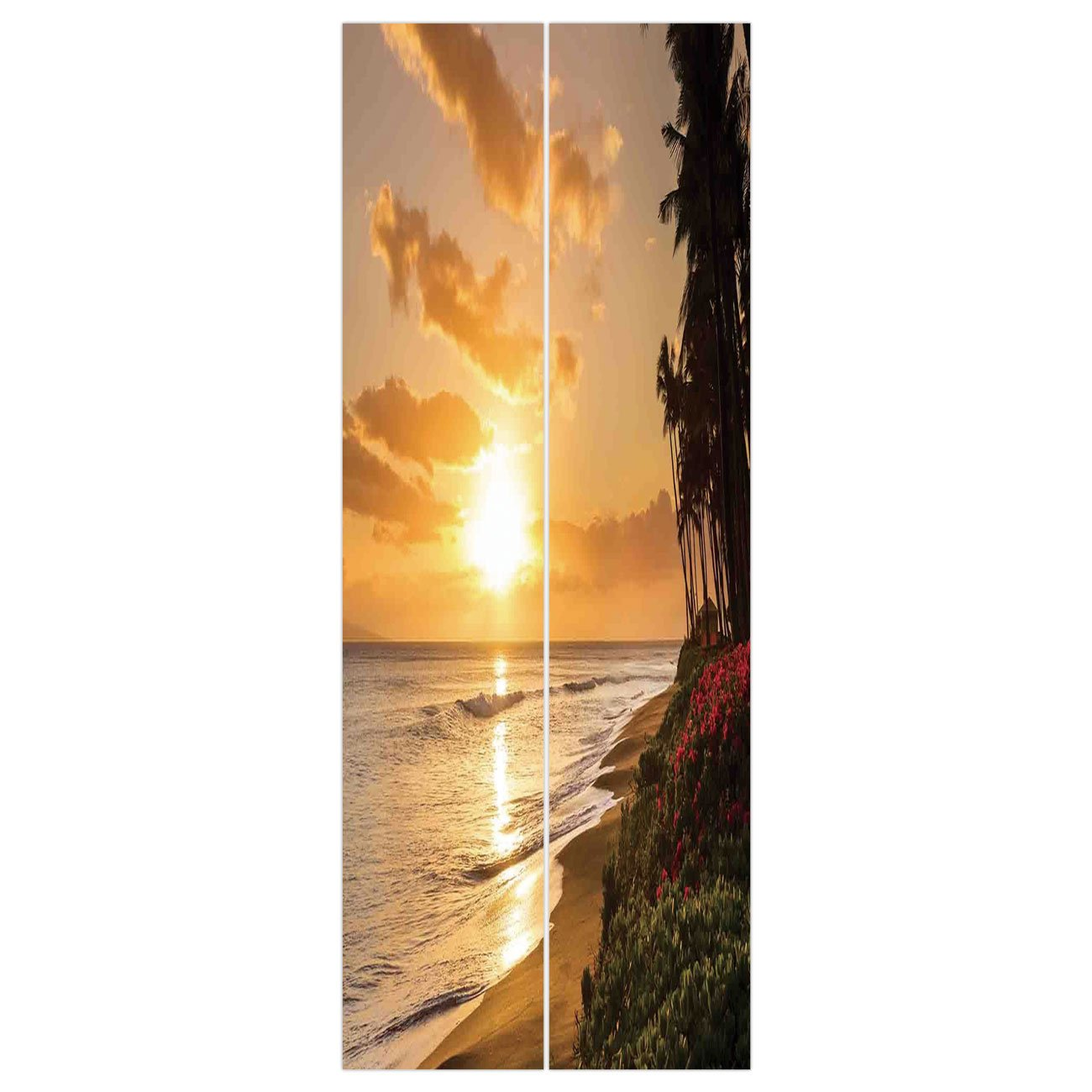 Amazoncom 3D Door Wall Mural Wallpaper Stickers [ Hawaiian 1300x1300