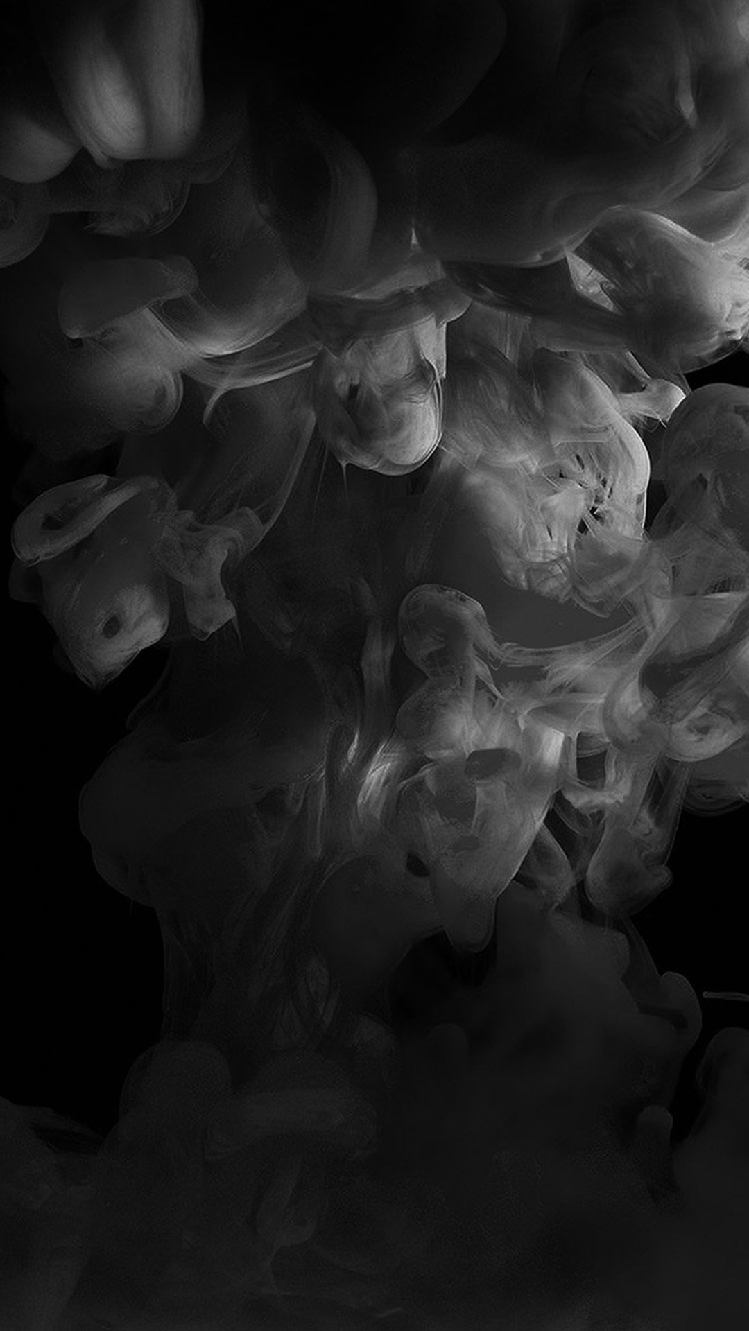 Smoke Dark Bw Abstract Fog Art Illust iPhone 8 Wallpapers 1080x1920
