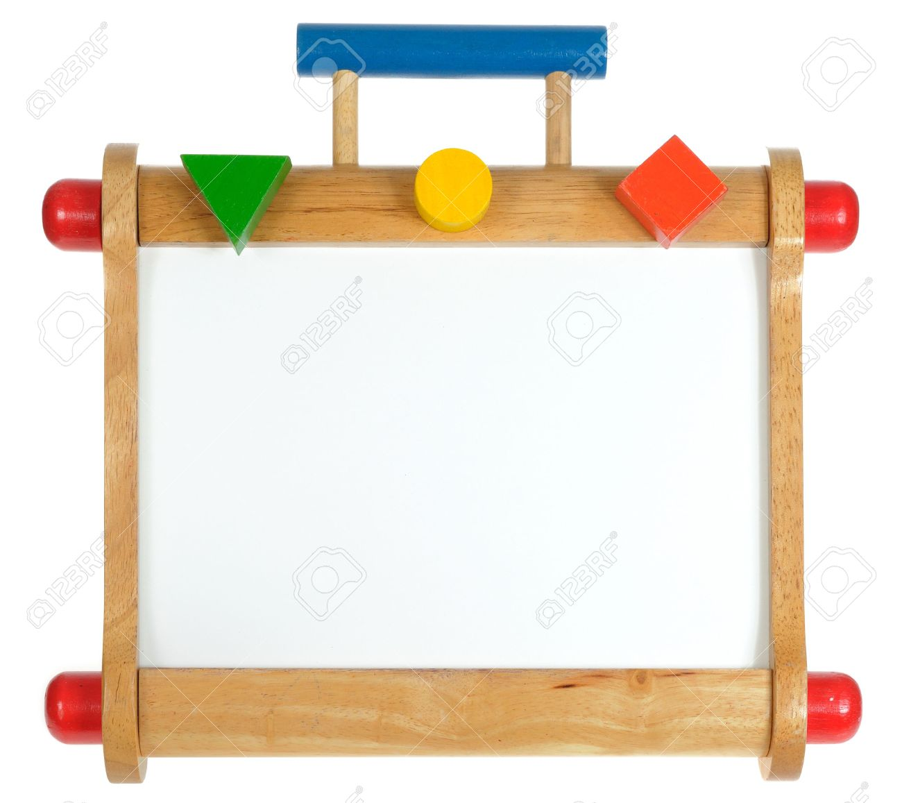 Blank Colorful Wooden Whiteboard On White Background Stock Photo 1300x1157