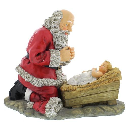 Santa and Baby Jesus Wallpaper - WallpaperSafari