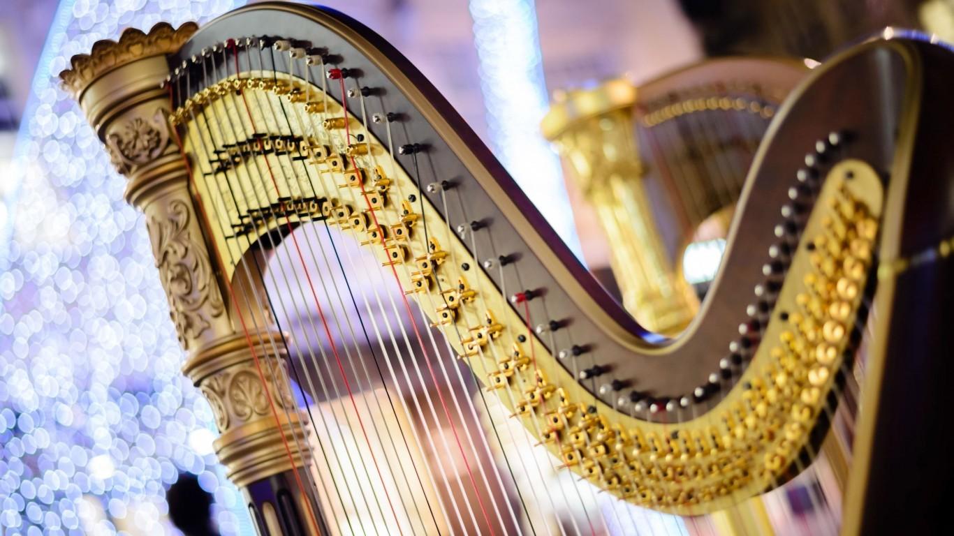 Instrument Harp Symphony wallpaper other Wallpaper Better 1366x768