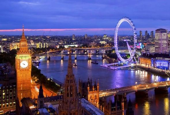 Wallpaper london, england, big wheel, evening, london eye, river ...