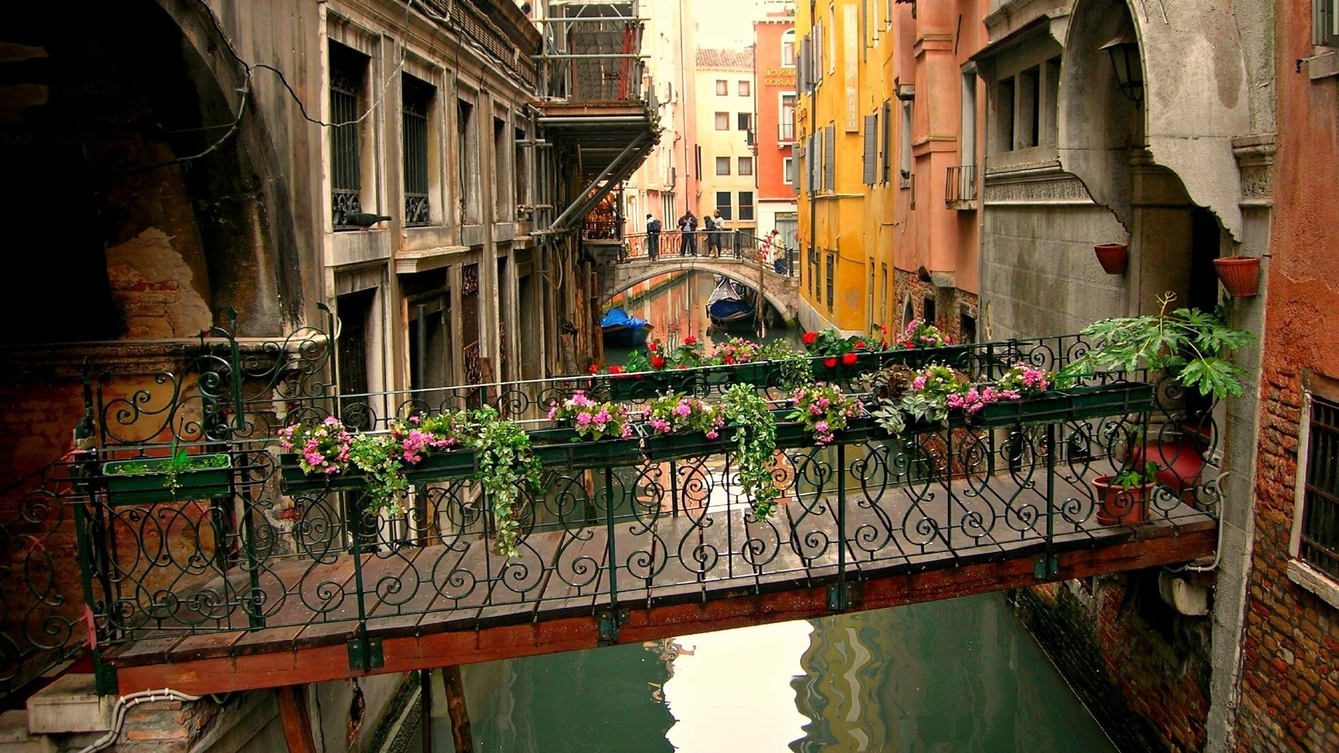 cityscape Architecture Town Building Venice Italy Water 1920x1080