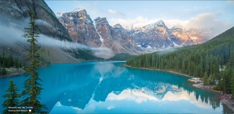 I just got Morraine Lake as my Momentum Background Redditlake 1440x699