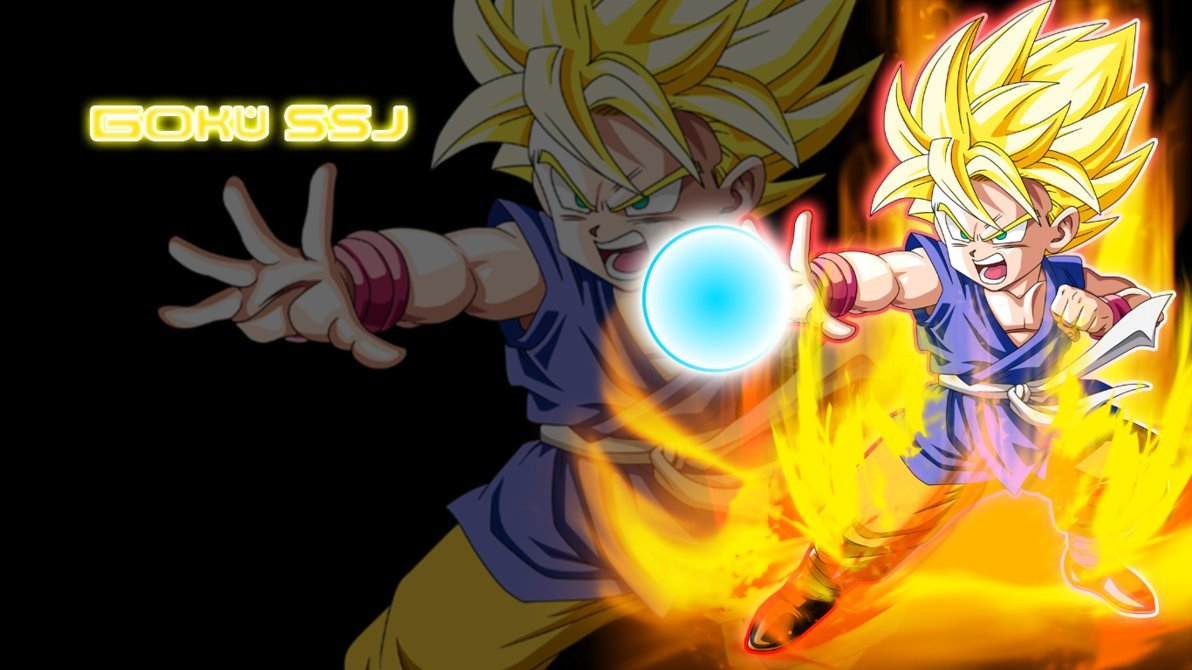 Goku SSJ Wallpaper GT by rentani 1192x670