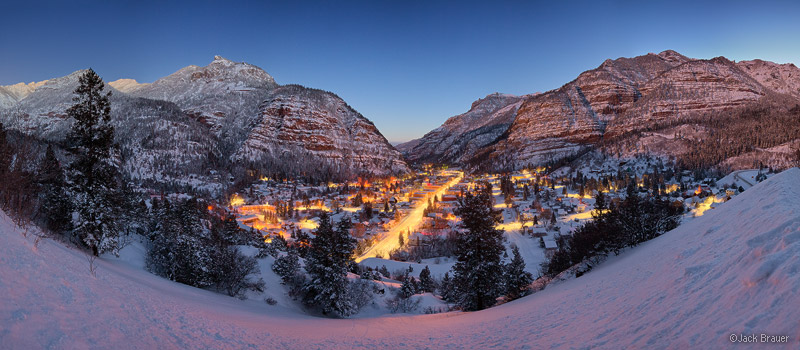 Winter Colorado Backgrounds Ouray winter dawn panorama 800x350