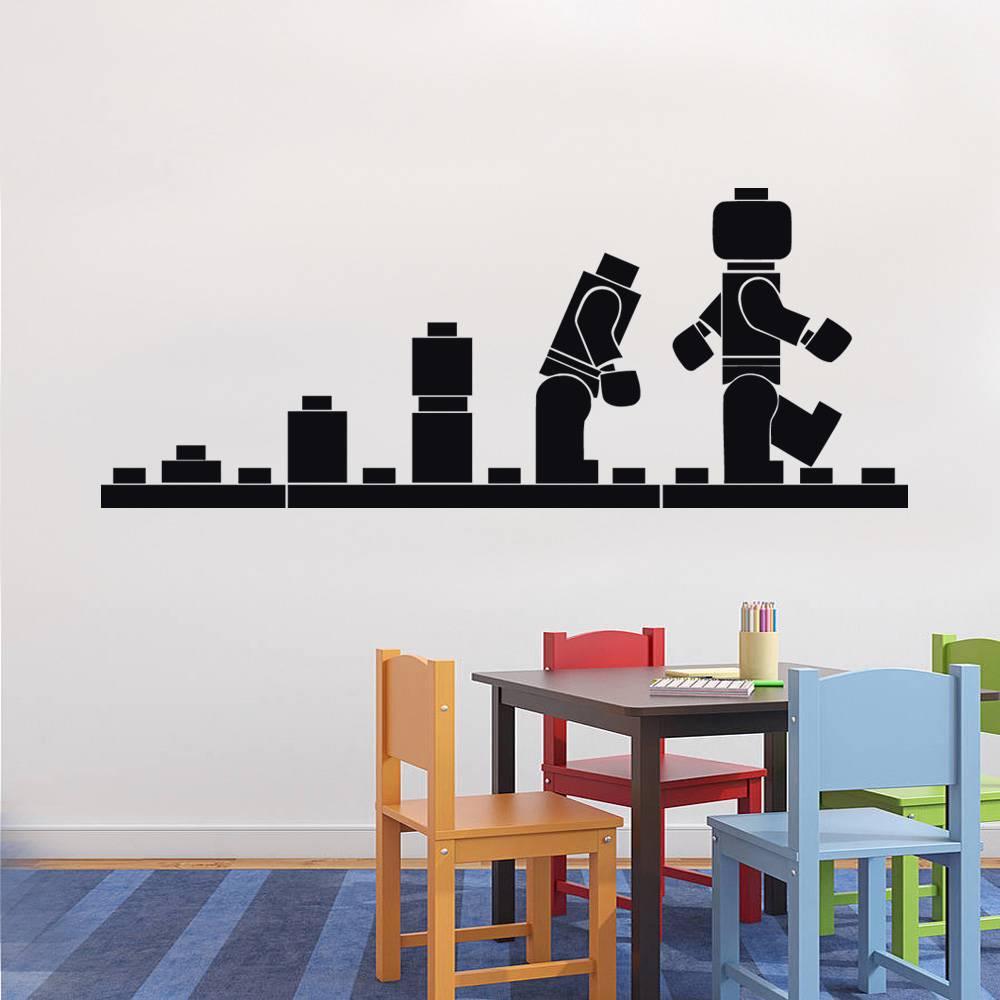 Lego Wallpaper For Walls Lego Evolution Decal Wall 1000x1000