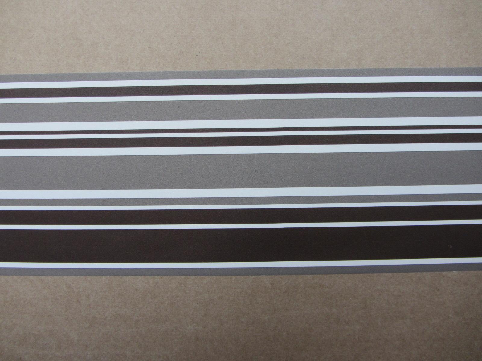 STRIPE CHOCOLATE WALLPAPER BORDER SELF ADHESIVE BEDROOM HALLWAY LOUNGE 1600x1200