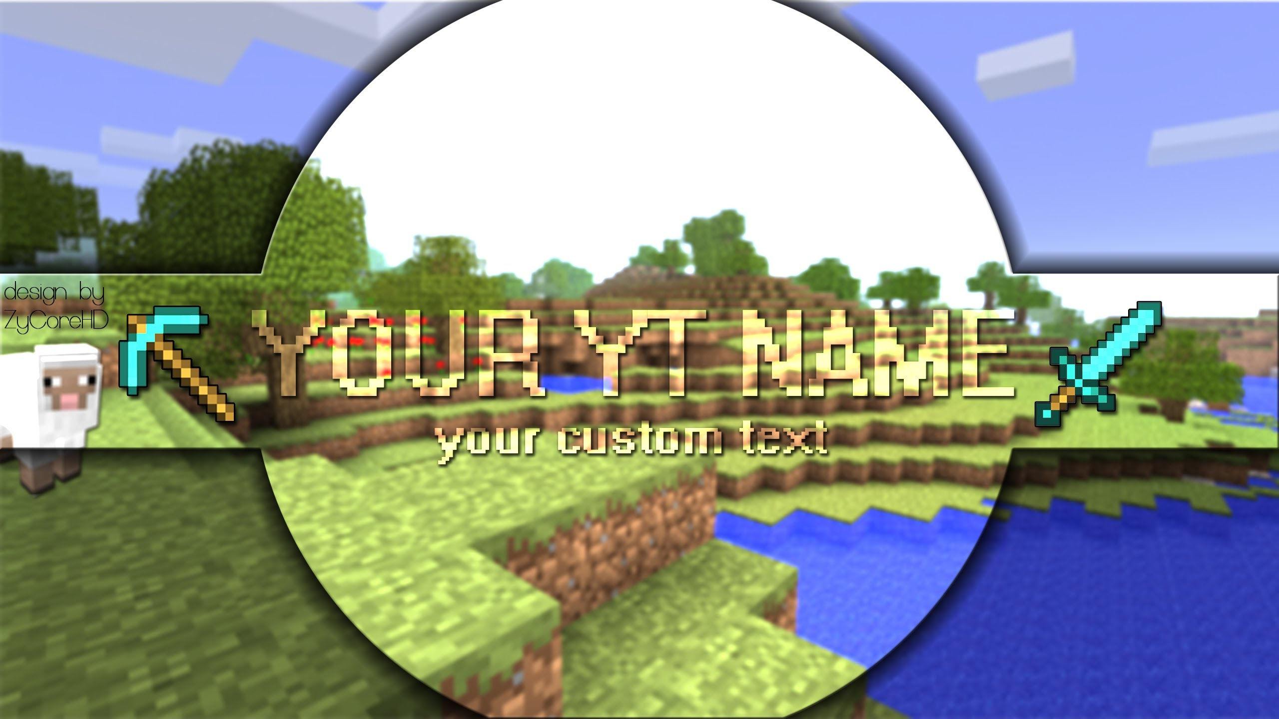 Free Download Custom Minecraft Channel Banner For New