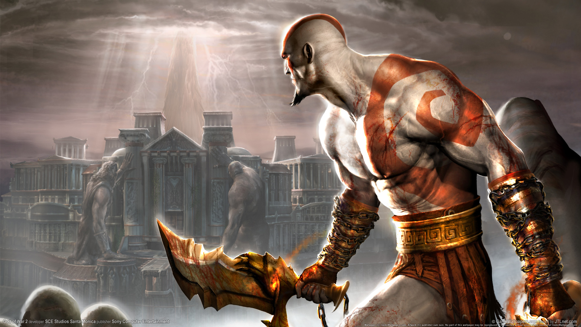 God of War 2 PS2 Game Wallpapers HD Wallpapers 1920x1080