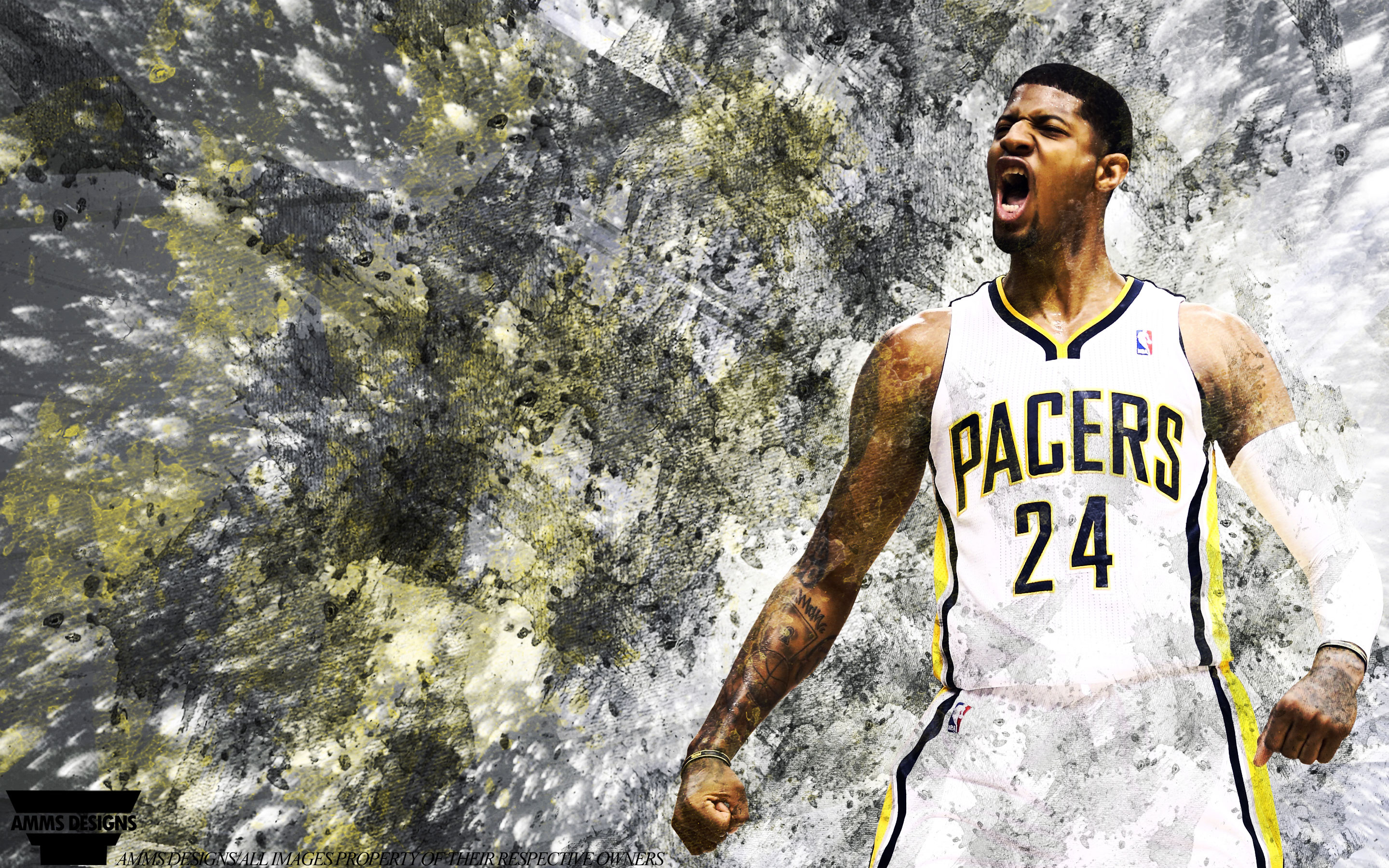 Paul George Pacers 2014 Wallpaper 2880x1800