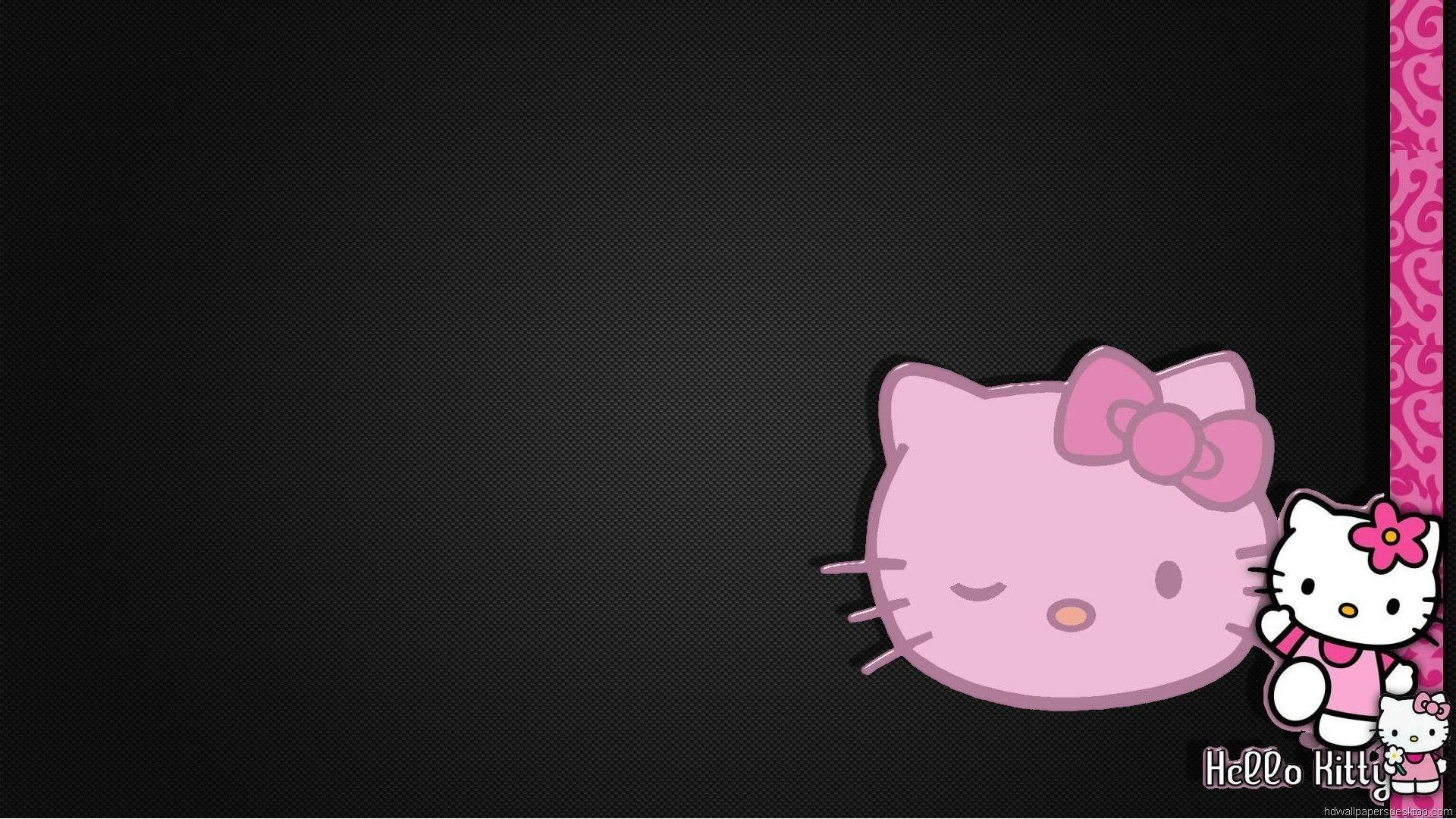 Pink And Black Hello Kitty Backgrounds 1920x1080