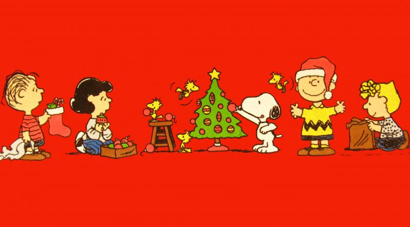 Peanuts Gang Christmas T Shirt Snoopn4pnutscom 800x443