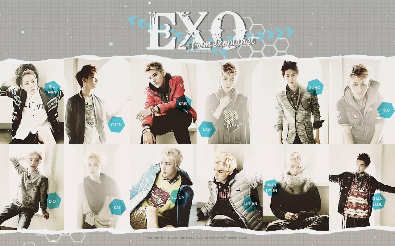 EXO SO COOL Magazine Wallpaper   kpop  Wallpaper 1280x800