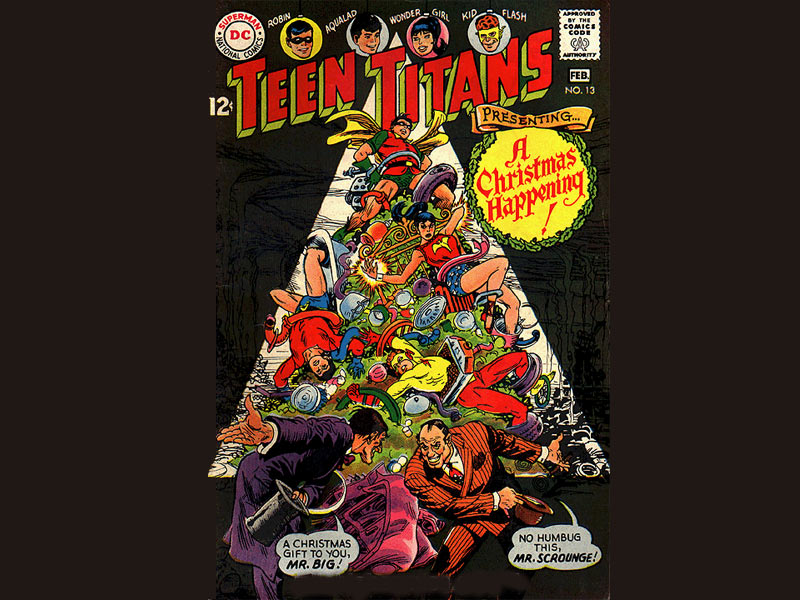 Merry Christmas Teen Titans 13 dated January February 1968 Comic Book 800x600