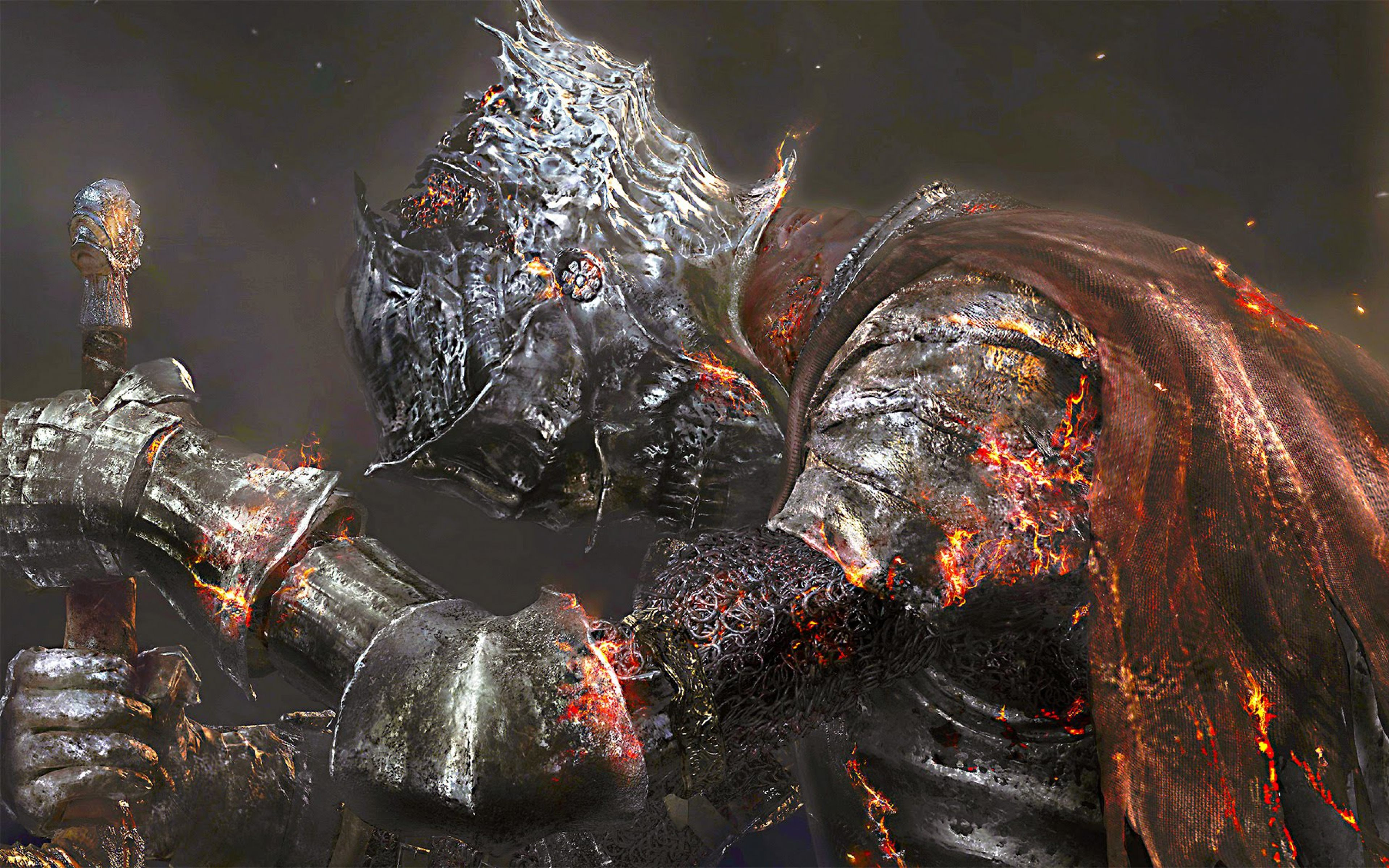 Dark Souls 3 Game Warrior 4K Wallpaper download in high quality 3840x2400