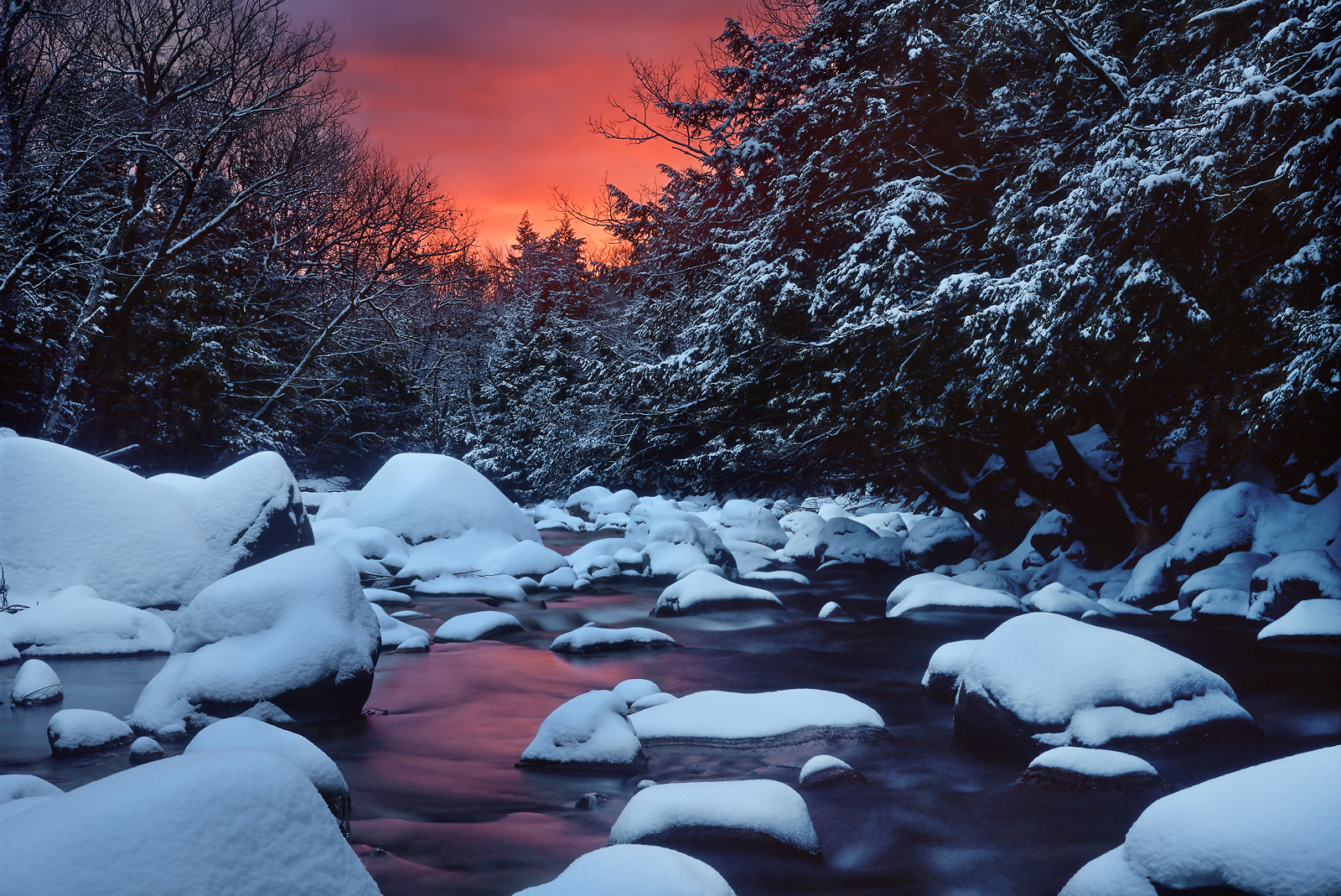 New England Winter Scenes Wallpaper