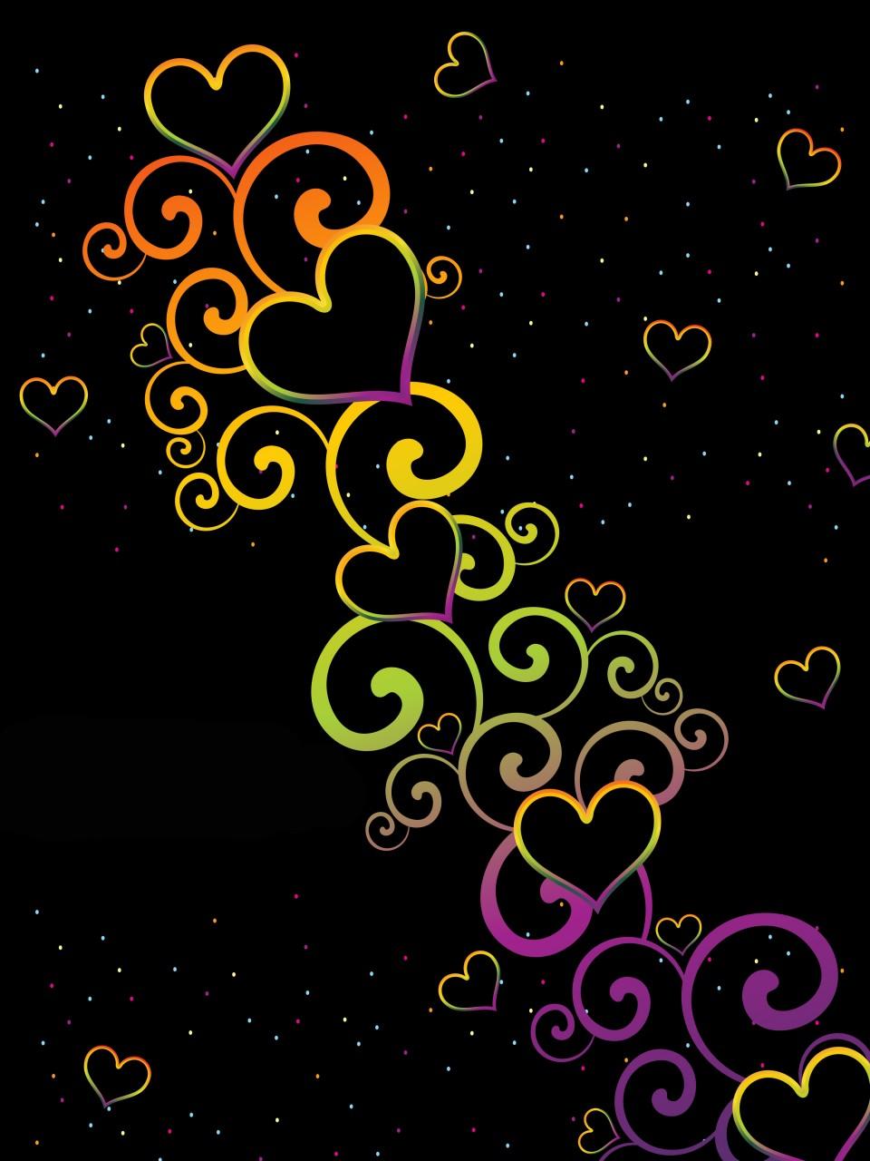 71 colorful hearts wallpaper on wallpapersafari - Heart to heart wallpaper ...