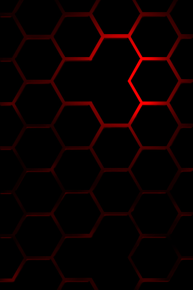Red Hexagon Simply beautiful iPhone wallpapers 640x960