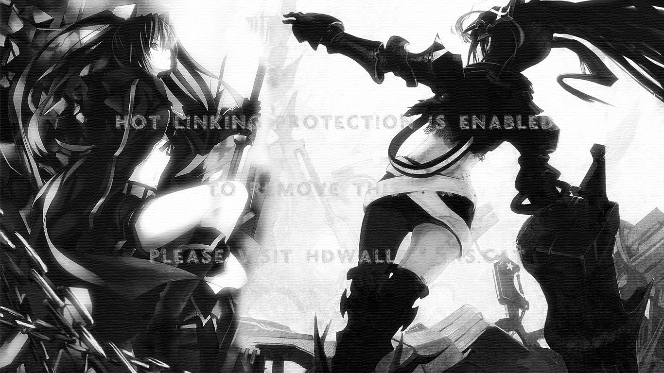 two one kuroi mato black rock shooter ibrs 1366x768