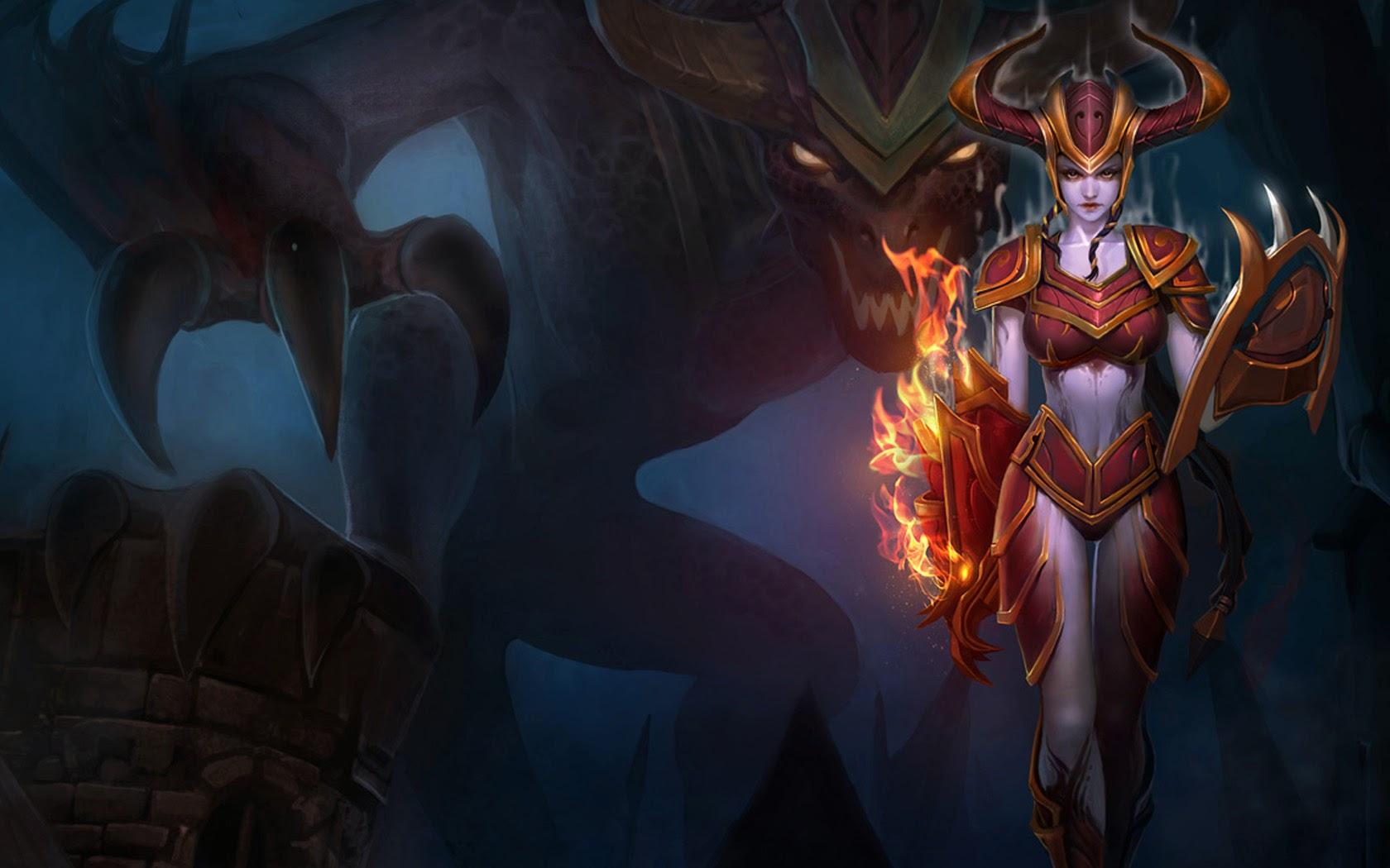 Free Download Dragon League Of Legends Lol Girl Champion Hd