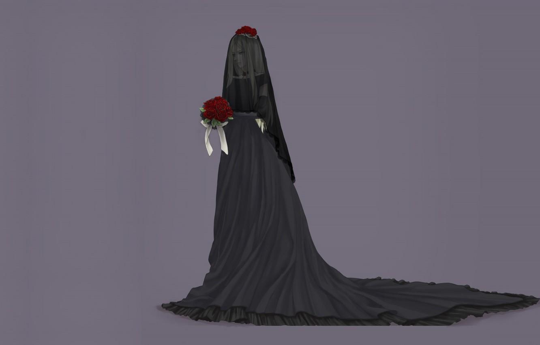 Wallpaper loneliness grey background black dress grief Belarus 1332x850